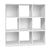 9 Cube Display Storage Shelf White
