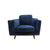 York Sofa 1 Seater Fabric Cushion Modern Sofa Blue Colour