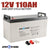 AGM Battery 12V AMP Hour SLA Deep Cycle Dual Fridge Solar Power 12 Volt