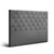 Artiss Double Size Upholstered Fabric Headboard - Dark Grey