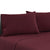 Bedding Double Burgundy 4pcs Bed Sheet Set Pillowcase Flat Sheet