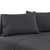 Bedding Double Charcoal 4pcs Bed Sheet Set Pillowcase Flat Sheet