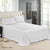Bedding Double Size 4 Piece Bedsheet Set - White