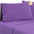 Bedding Double Size 4 Piece Micro Fibre Sheet Set - Purple