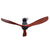 DC Motor Ceiling Fan with Remote 8H Timer Reverse Mode 5 Speeds Wooden