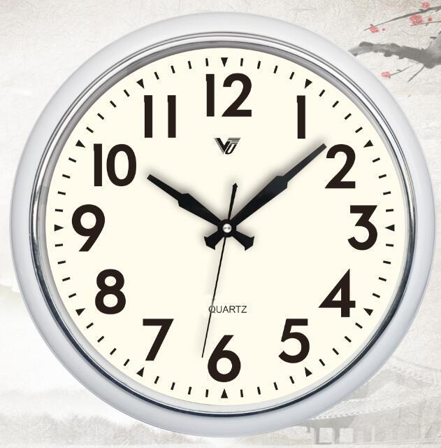 Elegant Shiny Brown 15'' Wall Clock