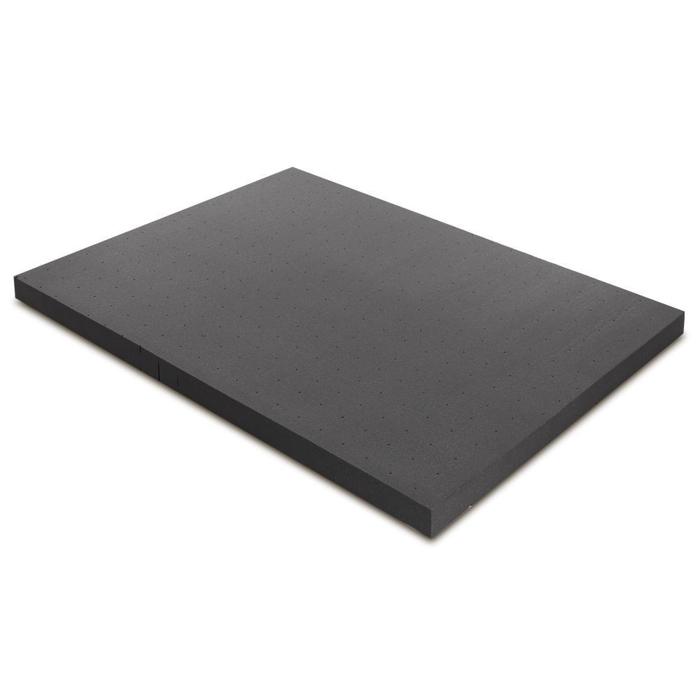 Giselle Bedding Bamboo Charcoal Memory Foam Mattress Topper Double 8CM Underlay