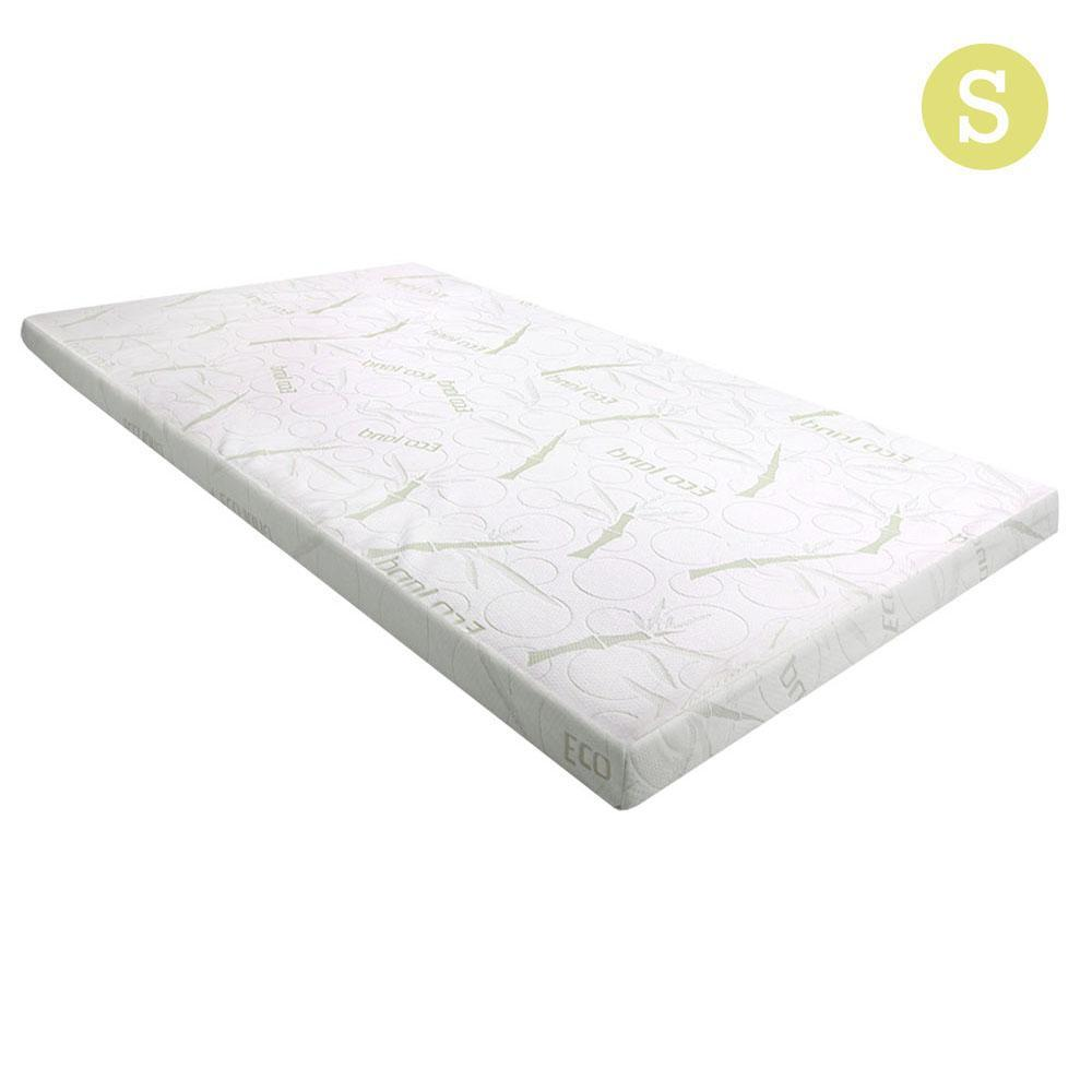 Giselle Bedding COOL GEL Memory Foam Mattress Topper BAMBOO Cover Single 5CM Mat