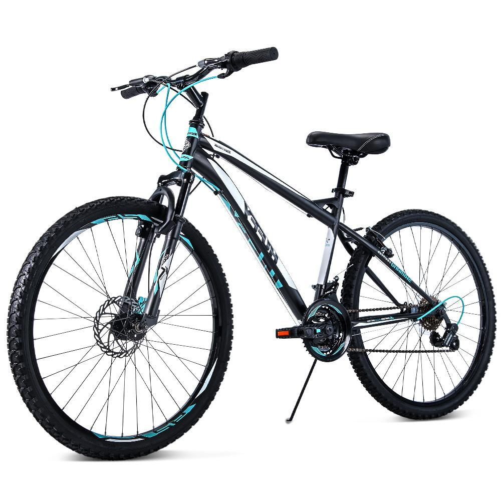 Huffy 26inch Mountain Bike Suspension Unisex Bicycle Shimano 18-speed Front Disc Brake Black