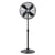 Metal Pedestal Fan Vintage Portable Fans Oscillating Tilt Chrome 3 Speed Black