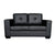 Nikki Sofa Black Colour 2 Seater PU Leather