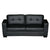Nikki Sofa Black Colour 3 Seater PU Leather