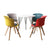 Office Meeting Table Chair Set 4 PU Leather Seat Dining Tables Chair Round Desk Type 3
