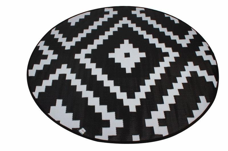 Outdoor Pp Mat Weatherproof Diamond Round Dia. 200cm
