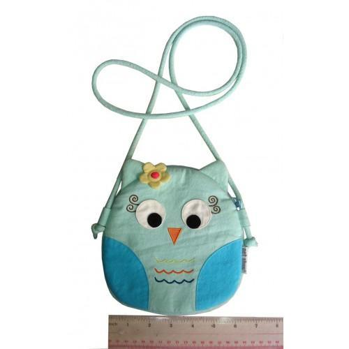 Owl Pouch Light Blue