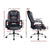 PU Leather Office Desk Computer Chair - Black