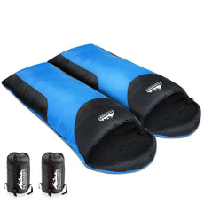 Weisshorn Twin Set Thermal Sleeping Bags - Blue & Black