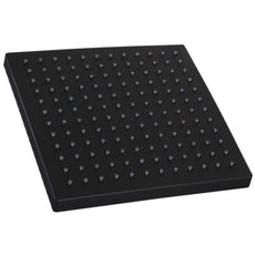 WELS Square 10 inch Rain Overhead Shower Head Replacement Mat Black