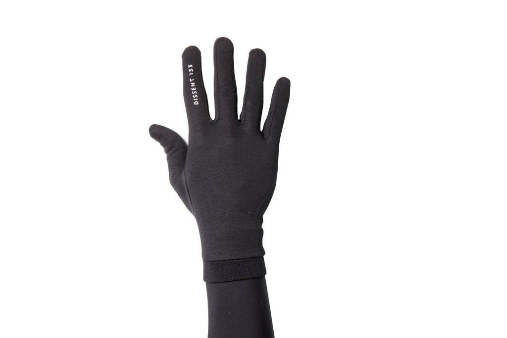 Dissent 133 Base Layer Silk Liner Glove Logo