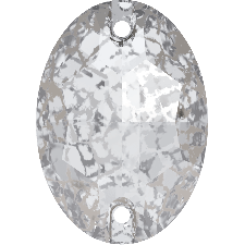 3210 OVAL CRYSTAL SILVER PATINA SEW-ON