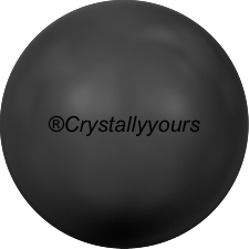 5809 CRYSTAL MYSTIC BLACK PEARL NO HOLE PEARLS