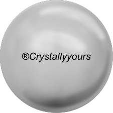 5809 CRYSTAL LIGHT GREY PEARL NO HOLE PEARLS