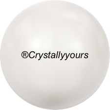 5809 CRYSTAL WHITE PEARL NO HOLE PEARLS