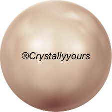 5809 CRYSTAL ROSE GOLD PEARL NO HOLE PEARLS