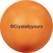 5810 CRYSTAL NEON ORANGE PEARLS