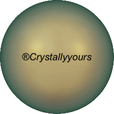 5811 CRYSTAL IRIDESCENT GREEN PEARL