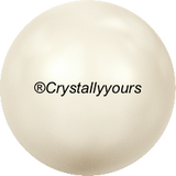 5817 MM 8 CRYSTAL CABOCHON PEARL HALF DRILLED