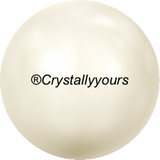 5817 MM 6 CRYSTAL CABOCHON PEARL HALF DRILLED