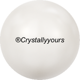5817 CRYSTAL CABOCHON PEARL HALF DRILLED