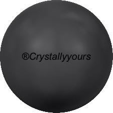 5818 CRYSTALS BLACK PEARL HALF DRILLED