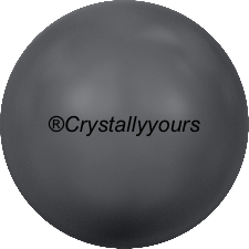 5818 CRYSTALS DARK GREY PEARL HALF DRILLED