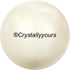 5818 CRYSTALS CREAMROSE LIGHT PEARL HALF DRILLED