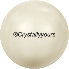 5818 CRYSTALS CREAM PEARL HALF DRILLED