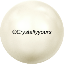 5818 CRYSTALS CREAMROSE PEARL HALF DRILLED
