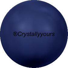 5818 CRYSTALS DARK LAPIS PEARL HALF DRILLED