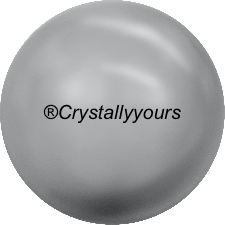 5818 CRYSTALS GREY PEARL HALF DRILLED