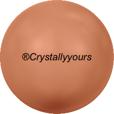 5818 CRYSTALS CORAL PEARL HALF DRILLED