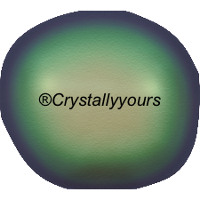 5840 CRYSTAL BAROQUE SCARABAEUS GREEN PEARLS