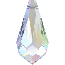 6000 MM 15X7.5 CRYSTAL AB TEARDROP PENDANT