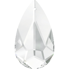 6100 MM 24X12 FACETED TEARDROP PENDANT