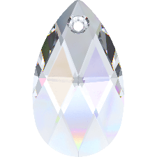 6106 MM 28 CRYSTAL AB PEAR-SHAPED PENDANT