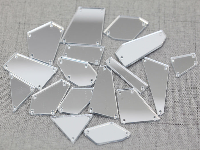 ACRYLIC MIRROR 50 ASSORTED SEW-ON