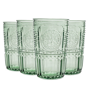 Bormioli Rocco Romantic Highball Glasses - 475ml - Pack of 4 - Green