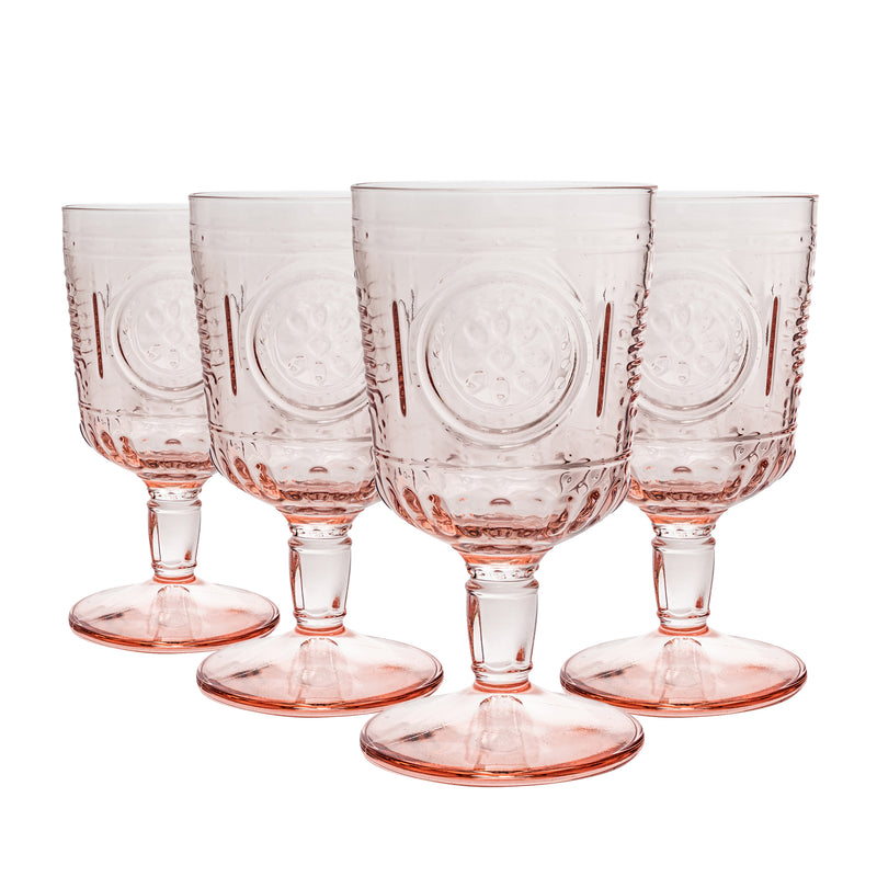 Bormioli Rocco Romantic Wine Glasses - 320ml - Pack of 4 - Red