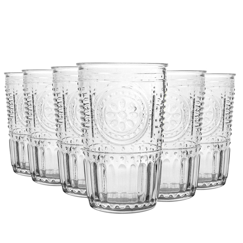 Bormioli Rocco Romantic Glass Tumblers - 305ml - Set of 6
