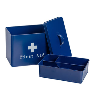 Harbour Housewares Vintage Metal First Aid Medicine Storage Box Components